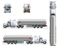 Vector la plantilla realista del camión del tunker aislada en blanco stock de ilustración