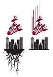 Vector la plantilla roja y negra en estilo de la propaganda libre illustration