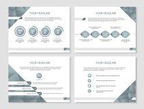 Vector la presentazione o il modello dell'opuscolo con la cronologia, grafici Fotografia Stock Libera da Diritti