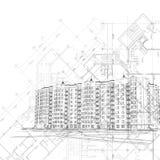Vector la priorità bassa in bianco e nero architettonica Immagini Stock