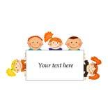 Vector la priorità bassa con i bambini Fotografie Stock