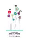 Vector la priorità bassa con i fiori Fotografia Stock Libera da Diritti
