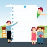 Vector la priorità bassa dei bambini nel banco Fotografia Stock