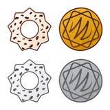 Vector la progettazione del biscotto e cuocia il logo Raccolta del simbolo di riserva del cioccolato e del biscotto per il web royalty illustrazione gratis