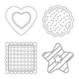 Vector la progettazione del biscotto e cuocia il simbolo Insieme del simbolo di riserva del cioccolato e del biscotto per il web royalty illustrazione gratis