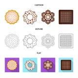 Vector la progettazione del biscotto e cuocia il simbolo Raccolta dell'icona di vettore del cioccolato e del biscotto per le azio royalty illustrazione gratis