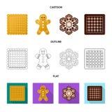 Vector la progettazione del biscotto e cuocia l'icona Raccolta dell'icona di vettore del cioccolato e del biscotto per le azione royalty illustrazione gratis