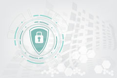 Vector la progettazione della tecnologia del cerchio e di sicurezza su fondo bianco Immagine Stock Libera da Diritti