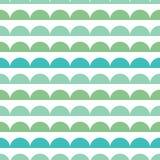 Vector la progettazione geometrica dei pettini delle bande del modello senza cuciture verde blu di ripetizione Grande per la cart Immagine Stock