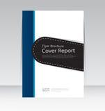 Vector la progettazione per il manifesto annuale dell'aletta di filatoio dell'opuscolo rapporto della copertura nella dimensione  illustrazione vettoriale