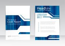 Vector la progettazione per il manifesto dell'aletta di filatoio dell'opuscolo rapporto della copertura nella dimensione A4 Immagini Stock Libere da Diritti