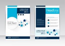 Vector la progettazione per il manifesto dell'aletta di filatoio dell'opuscolo rapporto della copertura nella dimensione A4 illustrazione vettoriale