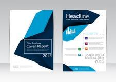Vector la progettazione per il manifesto dell'aletta di filatoio dell'opuscolo rapporto della copertura nella dimensione A4 illustrazione di stock