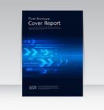 Vector la progettazione per l'aletta di filatoio annuale dell'opuscolo rapporto della copertura nella dimensione A4 Immagine Stock
