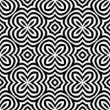 Vector la progettazione senza cuciture in bianco e nero di arte astratta dell'illusione ottica illustrazione di stock