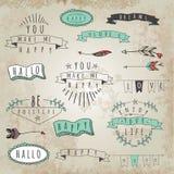 Vector la raccolta delle parole e delle frasi di stile dei pantaloni a vita bassa illustrazione vettoriale