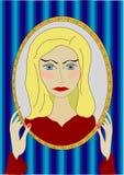 Vector la ragazza in uno specchio Immagini Stock
