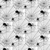 Vector la red fantasmagórica de las arañas de la silueta del web de araña del modelo del fondo de Halloween de la telaraña del mi Imagen de archivo