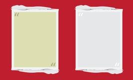 Vector la scatola di citazione con la casella di testo di stile di lerciume Fotografie Stock Libere da Diritti