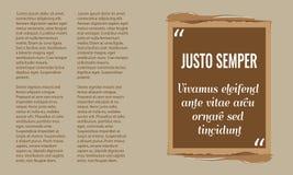 Vector la scatola di citazione con la casella di testo di stile di lerciume Immagini Stock Libere da Diritti