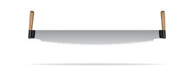 Vector la sierra de dos mangos realista aislada en el fondo blanco libre illustration