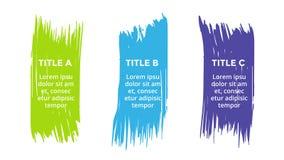 Vector la spazzola infographic, il diagramma, le etichette il grafico, la presentazione di pennellata degli autoadesivi Concetto  illustrazione vettoriale