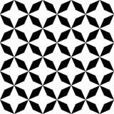 Vector la stella senza cuciture moderna del modello della geometria, estratto in bianco e nero Fotografia Stock Libera da Diritti