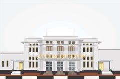 Vector la storia di costruzione di Merdeka del afrika dell'Asia di coference illustrazione di stock