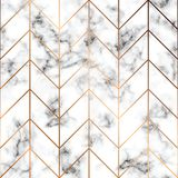 Vector la struttura di marmo, la progettazione senza cuciture con le linee geometriche dorate, la superficie di marmorizzazione i