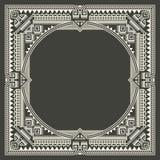 Vector la struttura floreale e geometrica del monogramma su fondo grigio scuro Elemento di progettazione del monogramma Fotografie Stock Libere da Diritti