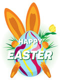 Vector la tarjeta de felicitación para el día de fiesta de Pascua libre illustration