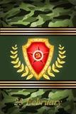 Vector la tarjeta de felicitación, relacionada a Victory Day o a 2 Imagenes de archivo