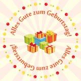 Vector la tarjeta de felicitación - zum Geburtstag del gute de Alles Fotos de archivo