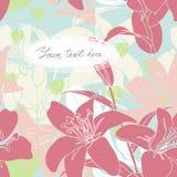 Vector la tarjeta floral con el lugar para su texto Imagen de archivo libre de regalías