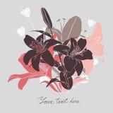 Vector la tarjeta floral con el lugar para su texto Fotografía de archivo libre de regalías