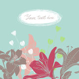 Vector la tarjeta floral con el lugar para su texto Fotos de archivo