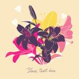 Vector la tarjeta floral con el lugar para su texto Fotografía de archivo