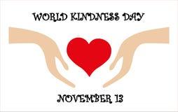 Vector la tarjeta para el día de la amabilidad del mundo, el 13 de noviembre ilustración del vector