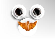 Vector la taza de la colección del café, sonrisa con el americano a Fotografía de archivo libre de regalías