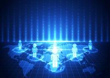 Vector la tecnología de comunicación global digital, fondo abstracto stock de ilustración