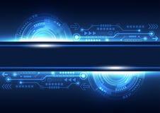 Vector la tecnología futura de las telecomunicaciones de la red, fondo abstracto Imagen de archivo