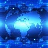 Vector la tecnología futura global abstracta, fondo eléctrico de las telecomunicaciones