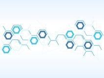 Vector la tecnologia di progettazione, la rete, medica, fondo di affari Fotografia Stock