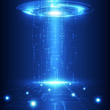 Vector la tecnologia futura astratta, fondo elettrico delle Telecomunicazioni