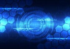 Vector la tecnologia futura di ingegneria astratta, fondo delle Telecomunicazioni illustrazione di stock