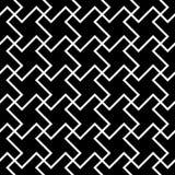 Vector la teja inconsútil moderna de la cruz del modelo de la geometría, extracto blanco y negro Fotografía de archivo