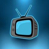 Vector la televisión retra Foto de archivo libre de regalías