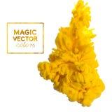 Vector la tinta que remolina en el agua, nube de la tinta en el agua aislada encendido stock de ilustración