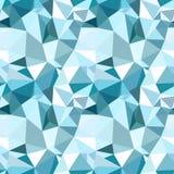 Vector laag poly naadloos patroon De blauwe winter vector illustratie