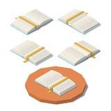 Vector laag poly open boek vector illustratie